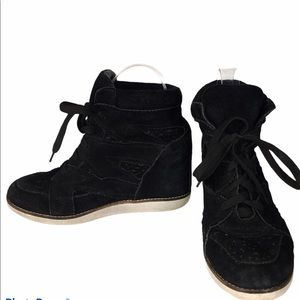 Jeffrey Campbell Ibiza Lace Up Ankle Suede Booties